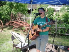 Performing at the East Corinth Agricultural and Trades Museum for their summer open house. - Miranda Moody Miller July 20, 2013