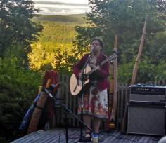 A beautiful evening of song and sound on the stage of Summer Street's Music Series in Bradford, Vermont. -Miranda Moody Miller June 21, 2014