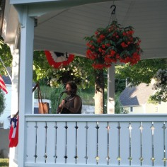 Delighting the crowd in the Groton Gazebo after a tasty community supper! - Miranda Moody Miller July 17, 2014