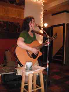 Singing to a full house at Brown's Market Bistro. -Miranda Moody Miller June 19, 2014