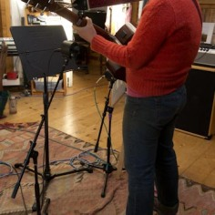 Laying down tracks for The Sage Sessions at Pepperbox Studio with sound engineer, Kristina Stykos. -Miranda Moody Miller December, 2013